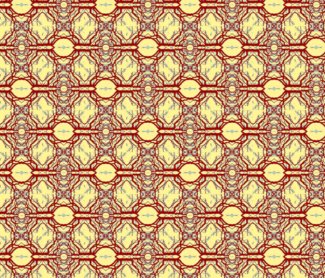 golden red queen fabric by twigsandblossoms on Spoonflower - custom fabric