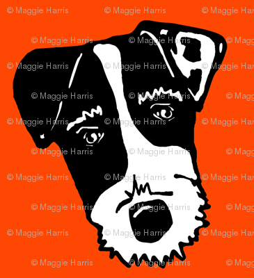 Jack Russell Terriers - dog face silhouette