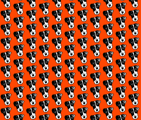Jack Russell Terriers - dog face silhouette  fabric by cheeky~hodgepodge on Spoonflower - custom fabric