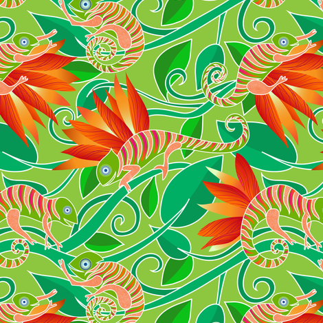 Chameleon fabric by vo_aka_virginiao on Spoonflower - custom fabric