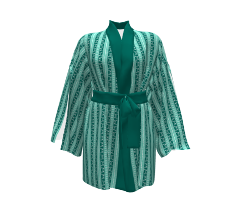 Deco Swan Stripe Green