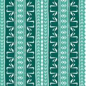 Tribal Swan Stripe Green