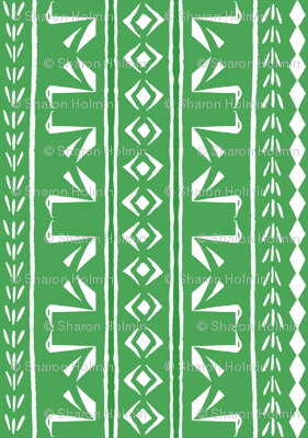 SWAN STRIPE Green and White
