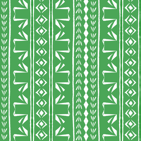 SWAN STRIPE Green and White fabric by shi_designs on Spoonflower - custom fabric