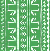 Tribal Swans Stripe Green