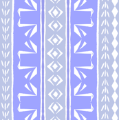 Tribal Swans Stripe Lavender
