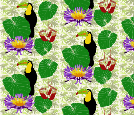 Toco the Toucan  fabric by vanillabeandesigns on Spoonflower - custom fabric