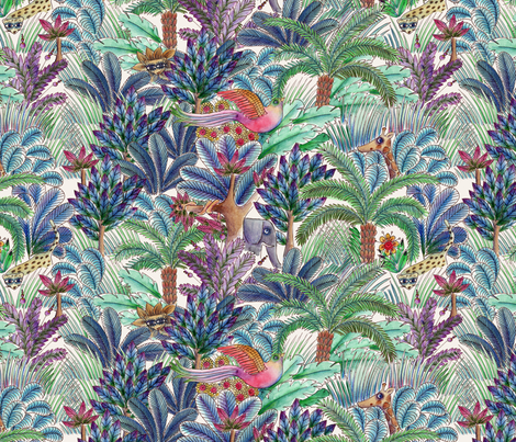 jungle_m fabric by nadja_petremand on Spoonflower - custom fabric