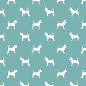 chihuahua silhouette fabric - dog fabrics - dogs design - gulf bleu