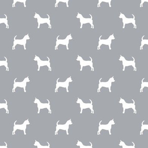 chihuahua silhouette fabric - dog fabrics - dogs design - quarry