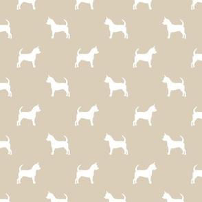 chihuahua silhouette fabric - dog fabrics - dogs design - sand