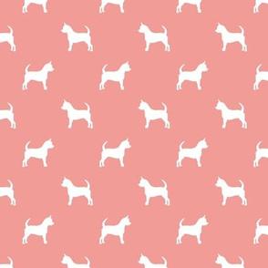 chihuahua silhouette fabric - dog fabrics - dogs design - sweet pink