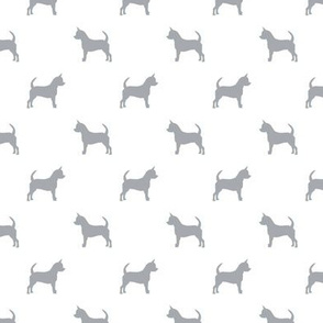 chihuahua silhouette fabric - dog fabrics - dogs design - quarry and white
