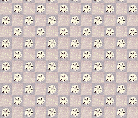 violet sand dollars fabric by twigsandblossoms on Spoonflower - custom fabric