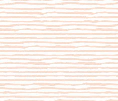 Light Peach Stripes / She is Fierce fabric by shopcabin on Spoonflower - custom fabric