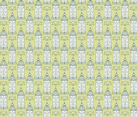 Parisian booth pattern fabric by charade on Spoonflower - custom fabric