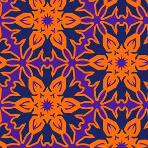 Batflake with Orange and Purple