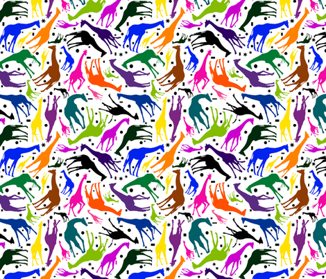 Como_Zoo_Giraffe_with_shapes_smaller fabric by jktphotofab on Spoonflower - custom fabric