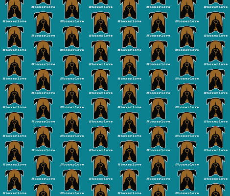 #boxerlove - Boxer dog face silhouettes fabric by cheeky~hodgepodge on Spoonflower - custom fabric