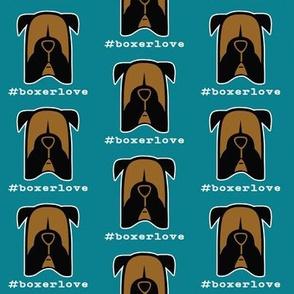 #boxerlove - Boxer dog face silhouettes