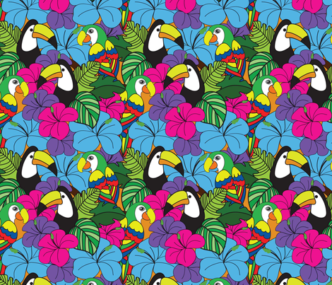 Tropical Rainforest  fabric by michelle_price_designs on Spoonflower - custom fabric