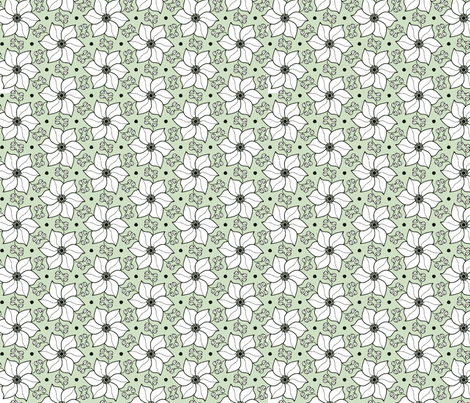 Floral pattern fabric by charade on Spoonflower - custom fabric