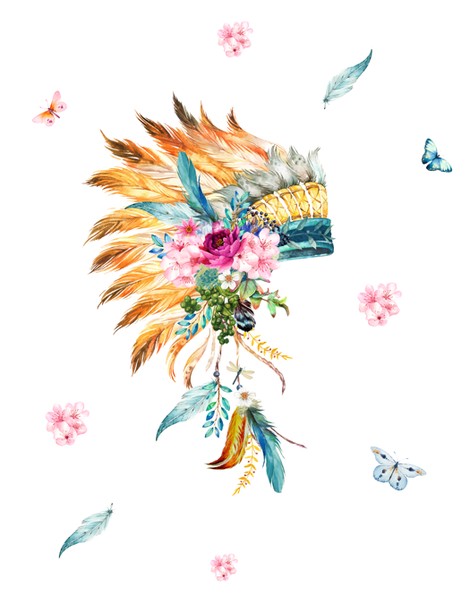 "56""x72"" - Dreaming of Spring / Headdress fabric by shopcabin on Spoonflower - custom fabric"