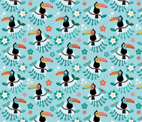 Toucan fabric by la_fabriken on Spoonflower - custom fabric