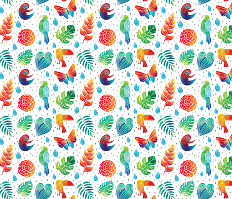 Neon Jungle-Mariel Cartin fabric by marielcartin on Spoonflower - custom fabric