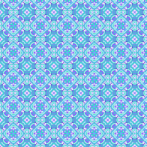 Dual Medallions, Blue and Purple, Small fabric by palifino on Spoonflower - custom fabric