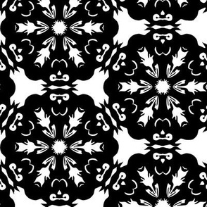 Black and White Owl Snowflake