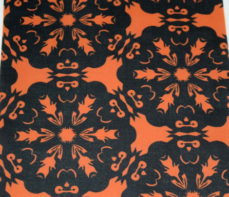 Orange and Black Owl Snowflake