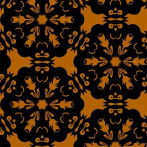 Orange and Black Owl Snowflake