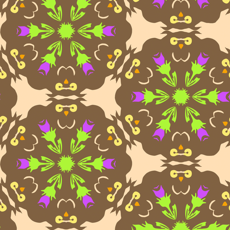Owl and Thistle Snowflake fabric by eclectic_house on Spoonflower - custom fabric