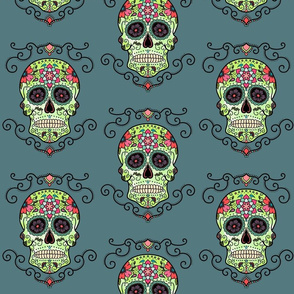 Sugar Skull Blue