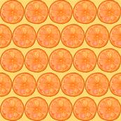 Oranges on yellow