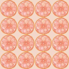 Pink Grapfruit on pink