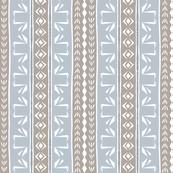 Deco Swan Stripe Cement & Silver
