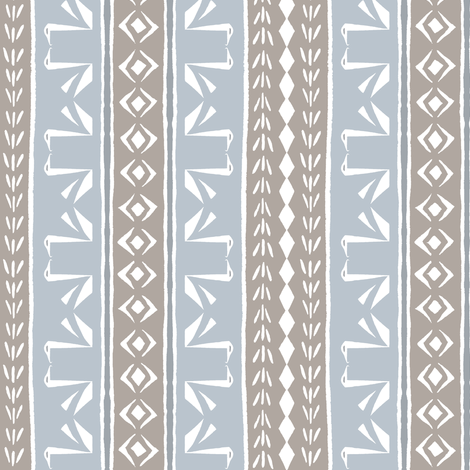 SWAN STRIPE Cement Brown and Silver Grey fabric by shi_designs on Spoonflower - custom fabric