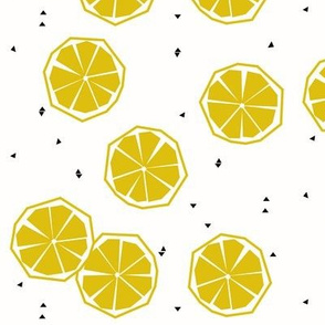 Lemon slices - geometric lemon tropical fruit tropical summer