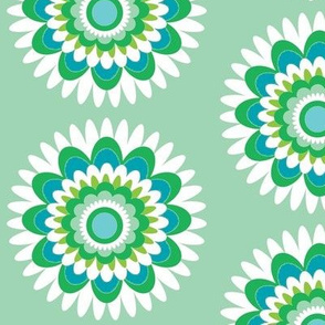 blue green pop daisy