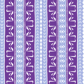 Tribal Swan Stripe Purple & Lavender