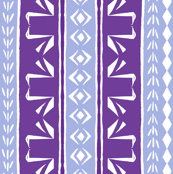 Tribal Swans Stripe Purple & Lavender