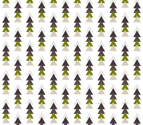 earthy triangle stack fabric by ivieclothco on Spoonflower - custom fabric