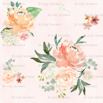 "6"" Spring Friends - Lightest Pale Pink"