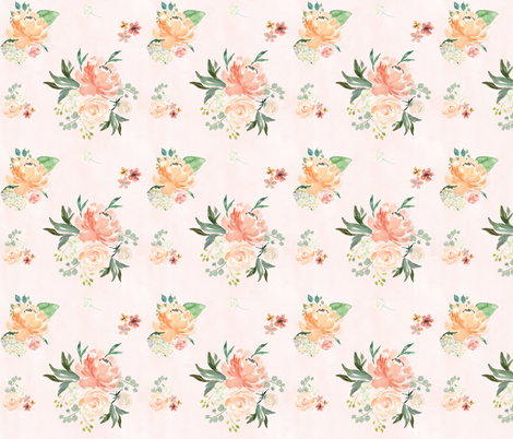 """6"""" Spring Friends - Lightest Pale Pink  fabric by shopcabin on Spoonflower - custom fabric"""