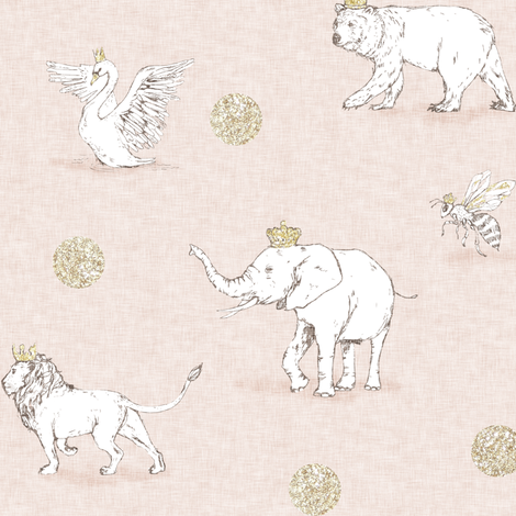 Royal Parade (blush) fabric by nouveau_bohemian on Spoonflower - custom fabric