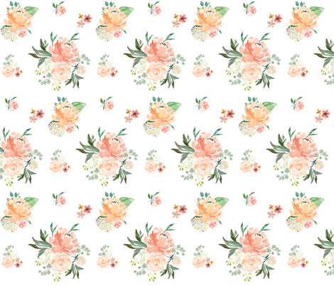 """6"""" Spring Friends - White fabric by shopcabin on Spoonflower - custom fabric"""
