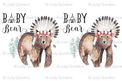 2 to 1 Yard MINKY Baby Bear