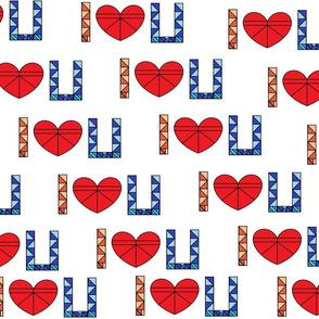 I Love U Tangrams